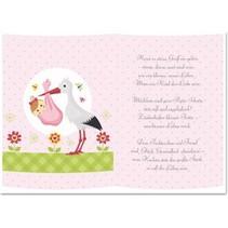 5 papiers transparents, feuille A5, poèmes naissance fille