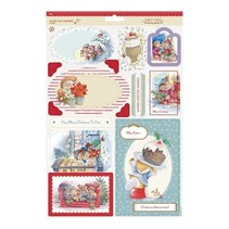 Toppers A4 Die-cut (2P) - Souhaits d'hiver
