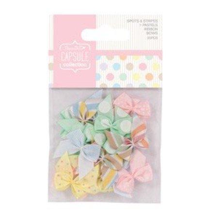 Embellishments / Verzierungen 20 Mini Bows, Ribbon Bows (20pcs)