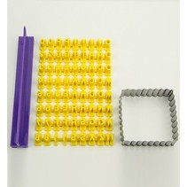 Averses moule en silicone - Prägebuchstaben Set