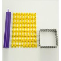 Fragmentarisk silicone skimmel - Prägebuchstaben Set