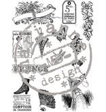 Stempel / Stamp: Transparent Clear stamps, viktoriansk Vintage