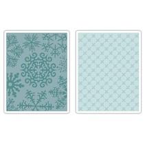 Dossier cm, flocon de neige et les étoiles 2 gaufrage 11,43x14,61