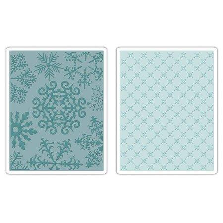 Sizzix 2 Embossing Folder 11,43x14,61 cm, snowflake and stars