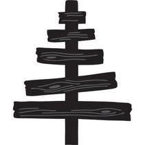 Marianne Design, estampage et gaufrage pochoir, Craftables - arbre en bois de Eline