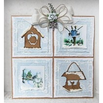 Marianne Design, estampage et gaufrage pochoir, Craftables - Birdhouse Tiny