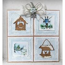 Marianne Design, stempling og prægning stencil, Craftables - Lillebrors Birdhouse