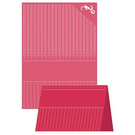 embossing Präge Folder A4 Carpeta de grabación en relieve, Artesanía Bueno - Elegancia punteada