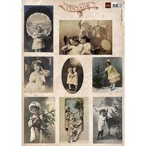 Cartes de Noël Vintage vintage et nostalgie, minuscule