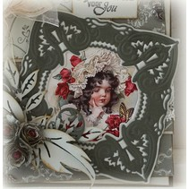 Stamping and embossing stencil, Craftables - a beautiful frame