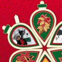 3 mini livre album sous la forme d'un arbre de Noël, cloche de Noël et boule de Noël!