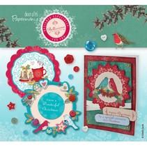 Bastelset: 3D-Stanzbogen-Karten-Set - Bellissima Christmas