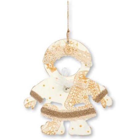Objekten zum Dekorieren / objects for decorating 3 MDF ornements Eskimos