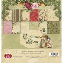 Christmas Story papir blok, 30,5 x 30,5 cm