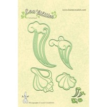 Lea'bilities, embossing and cutting mat, seashell and waves