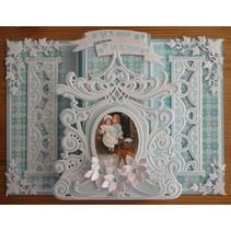 Marianne Design, estampage et gaufrage pochoir, miroir de Petra
