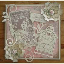 Marianne Design, Vintage Romantique amour, timbre CS0866.
