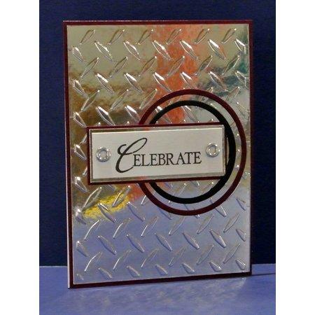 embossing Präge Folder Carpetas de repujado, la placa del diamante, A6, 14,8 x 10,5 cm