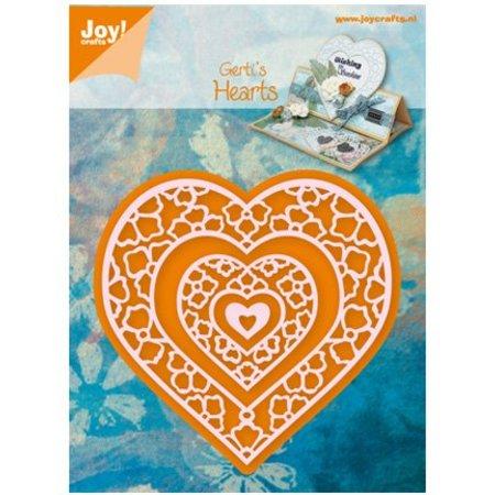 Joy!Crafts und JM Creation Estampación y corte de la plantilla, corazón