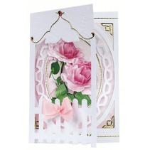Bastelset: Clôture Cartes Roses