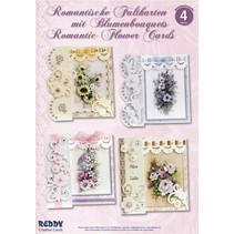 kit de carte, pliage romantique, bouquets de fleurs