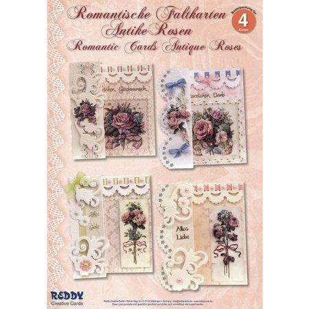 BASTELSETS / CRAFT KITS: Craft Kit: Romantisk foldning, Antique Rose