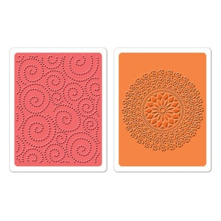Sizzix 2 embossing folders, Dot Swirl & Me