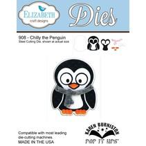 NOUVEAU: Coupage du métal meurt, Elizabeth Craft Designs, Chilly le pingouin par Karen Burnisto