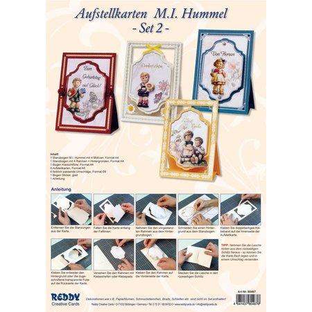 """BASTELSETS / CRAFT KITS: 3D NoteCards: """"MI Hummel"""", pour 4 cartes"""