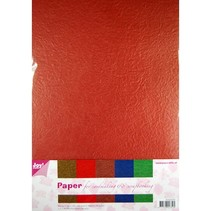 Papel Flor Papierset, 5 x 2 hojas (A4) de color cálido