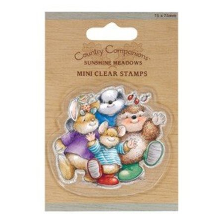 Yvonne Creations 75 x 75mm Mini Clear stamps - Country Companions