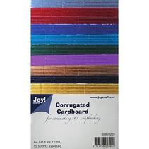 El cartón ondulado en grandes colores