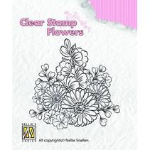 Klare stempler, blomster