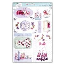 A4 die cut sheet with pretty designs