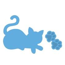 Gaufrage et tapis de coupe, chat