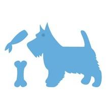 Gaufrage et tapis de coupe, chien