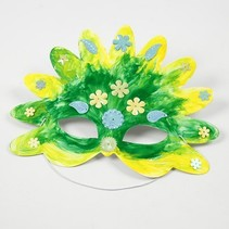 Bastelset: 16 Fairy Tale Masques, H: 13,5 à 25 cm, 220 g + Sequin Mix, Taille 15-45 mm