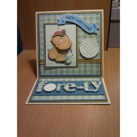 Forever Friends A4 ultime pack de découpage (de 48pcs) - la bonne vie Emballé avec plein de petits extras pour créer plus cartes rétro!