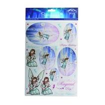 A4 metallic die cut sheet, Topic: Fairies