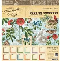 "Designers block ""Time to Flourish - Calendar"", 20 x 20 cm"