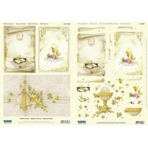 1 3D die cut sheet + 1 sheet with background designs, Religious Motives / Communion - Confirmation