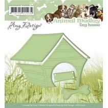 Estampage et gaufrage pochoir, Medley animal, chien de la maison
