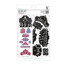 XCut, A5 punching template set (8 HAMPERS) - ornate greetings