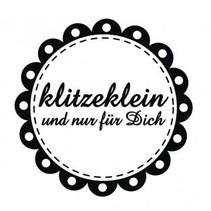 """mini estampilla Holze con el texto alemán """"pequeño y sólo para ti"""", diámetro de 3 cm"""