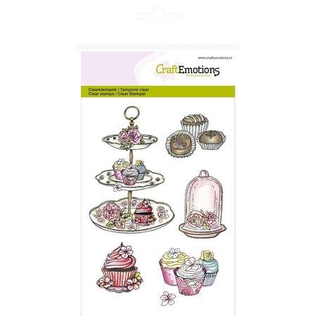 """Crealies und CraftEmotions Håndværk Emotions Transparente frimærker A6, delikatesse """"High Tea Rose"""" - Copy"""