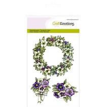 """Håndværk Emotions Transparente frimærker A6, delikatesse """"blomsterkrans Purple Holiday"""""""