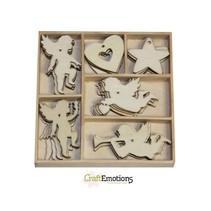 Ange de vacances 30 pièces dans une boîte en bois !! 10,5 x 10,5 cm