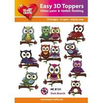 Easy 3D design, Owl, 10 modèles 3D dans un pack!