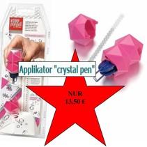 """NUEVA :. Aplicador textil """"pluma de cristal"""", que incluye 21 cristales Swarovski"""