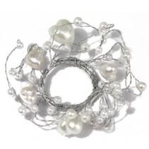 Pearl Ring med hjerter ring diameter 3 cm, PVC box 1 stk, hvid